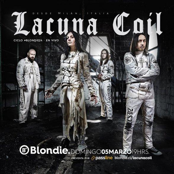 Lacuna Coil vuelve a Chile a la celebración de los 24 años de Blondie